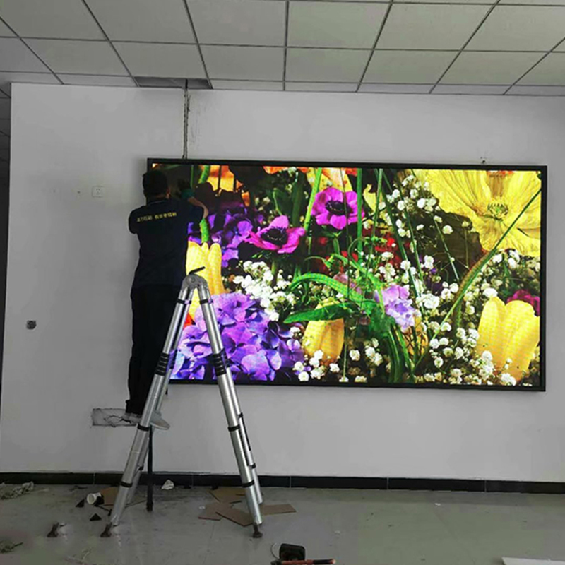 中卫某社区led彩色电子屏