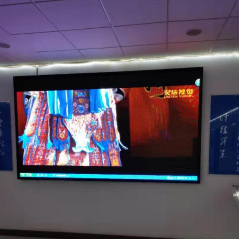 大武口某政府室内led显示屏安装