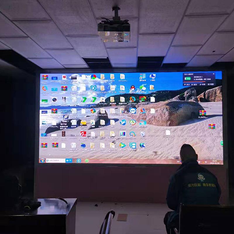 灵武某学校会议室室内led显示屏